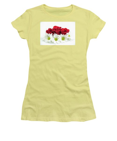 Roses And Daisies Women's T-Shirt (Athletic Fit)
