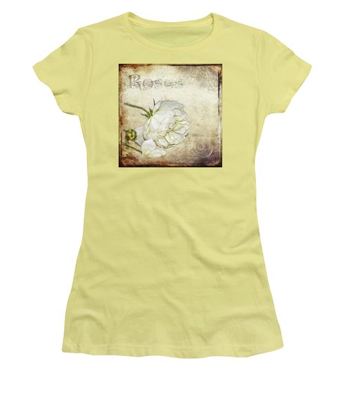 Women's T-Shirt (Junior Cut) featuring the photograph Roses by Carolyn Marshall