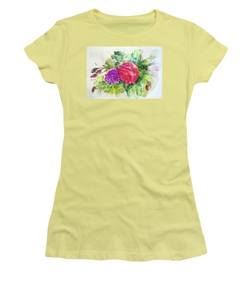 Roses For You Women's T-Shirt (Junior Cut) by Jasna Dragun