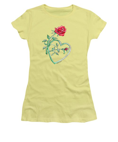 Roses Hearts Lace Flowers Transparency       Women's T-Shirt (Athletic Fit)