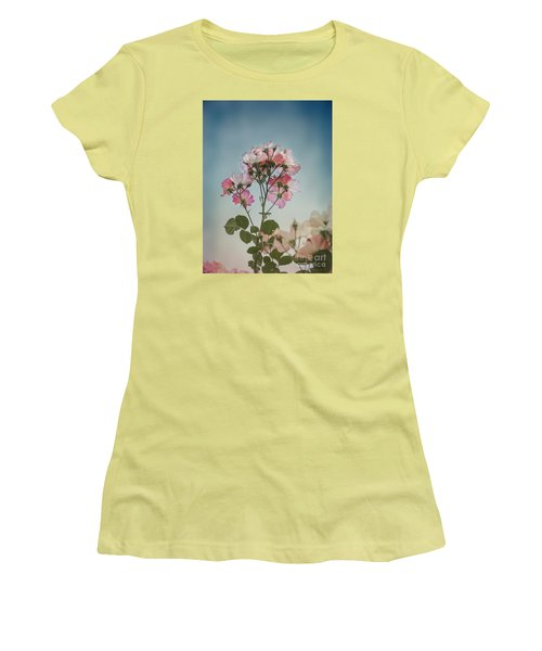 Roses In The Sky Women's T-Shirt (Athletic Fit)