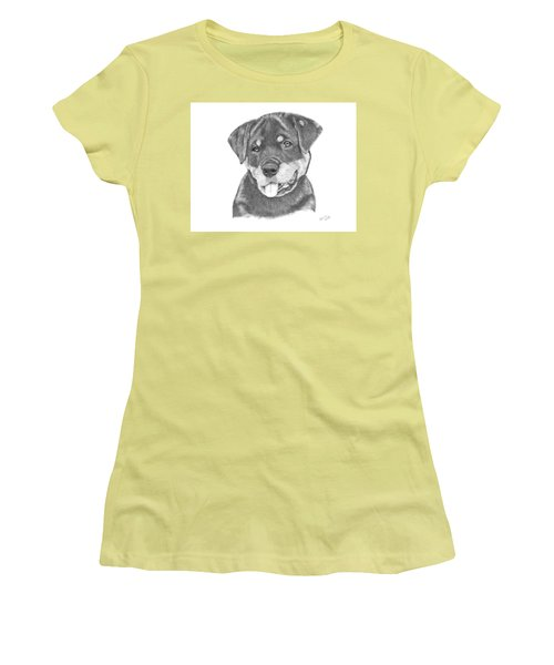 Rottweiler Puppy- Chloe Women's T-Shirt (Athletic Fit)