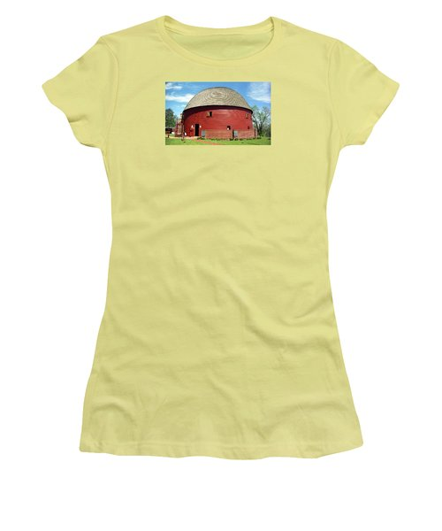 Route 66 - Round Barn Women's T-Shirt (Athletic Fit)