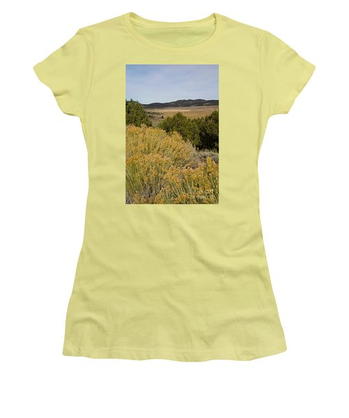 Rt 72 Utah Women's T-Shirt (Junior Cut) by Cindy Murphy - NightVisions