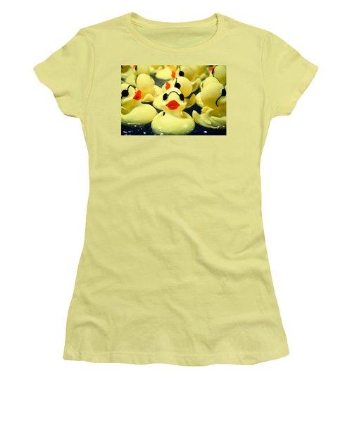 Rubber Duckie Women's T-Shirt (Junior Cut) by Colleen Kammerer