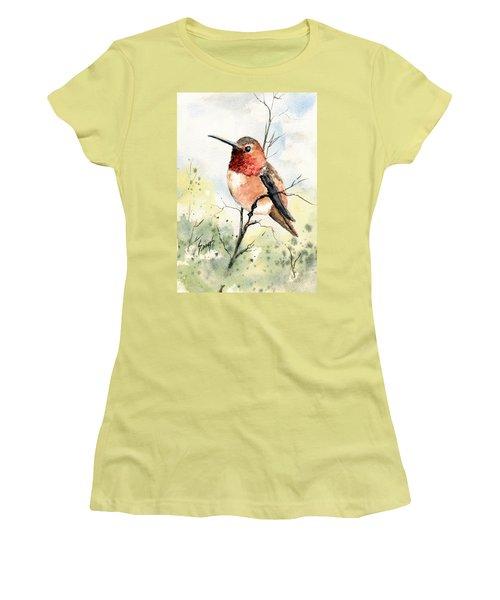 Rufous Hummingbird Women's T-Shirt (Junior Cut) by Sam Sidders