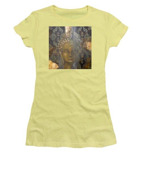 Ruined Palace Buddha Women's T-Shirt (Junior Cut) by Dina Dargo