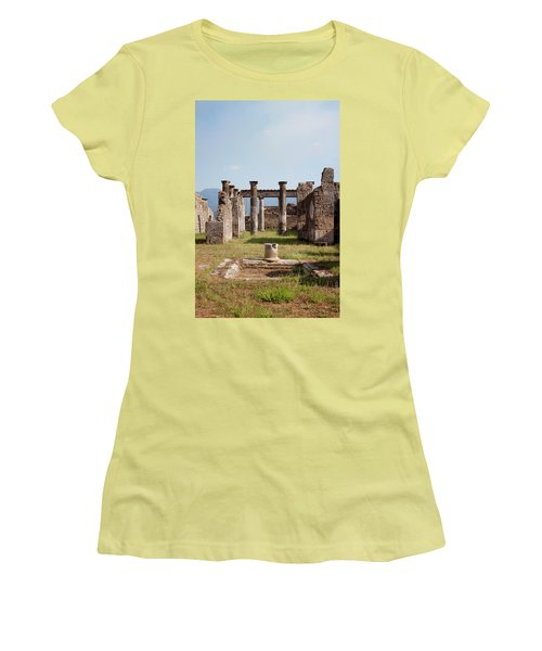 Ruins Of Pompeii Women's T-Shirt (Junior Cut) by Ivete Basso Photography