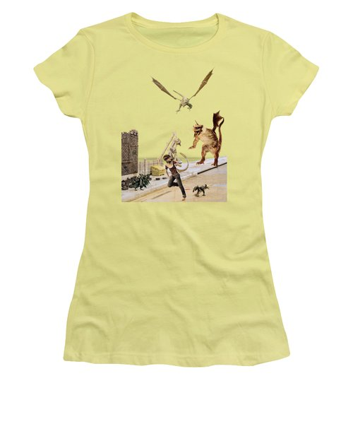 Running From My Problems Women's T-Shirt (Junior Cut) by Methune Hively