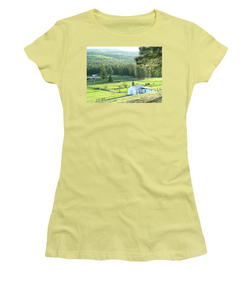 Rural Church In The Valley Women's T-Shirt (Athletic Fit)
