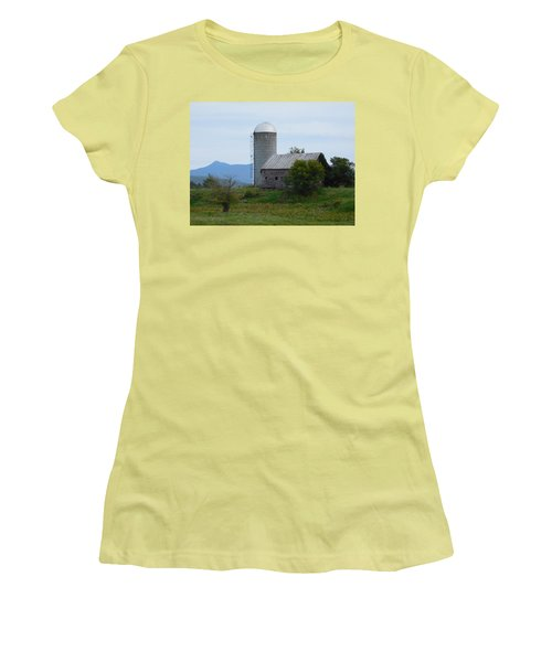 Rural Vermont Women's T-Shirt (Junior Cut) by Catherine Gagne