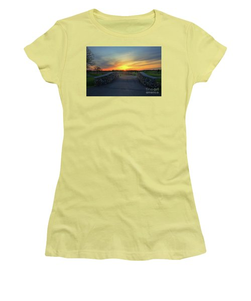 Rush Creek Golf Course The Bridge To Sunset Women's T-Shirt (Athletic Fit)