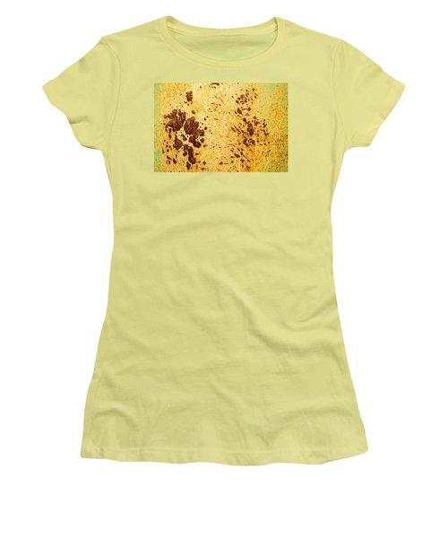 Women's T-Shirt (Junior Cut) featuring the photograph Rust Metal by John Williams