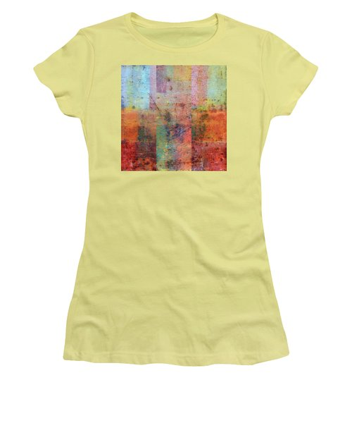 Women's T-Shirt (Athletic Fit) featuring the painting Rust Study 1.0 by Michelle Calkins