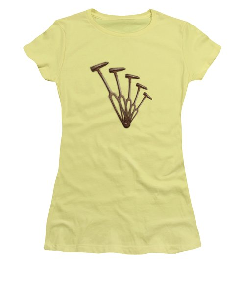 Women's T-Shirt (Junior Cut) featuring the photograph Rustic Hammer Pattern by YoPedro