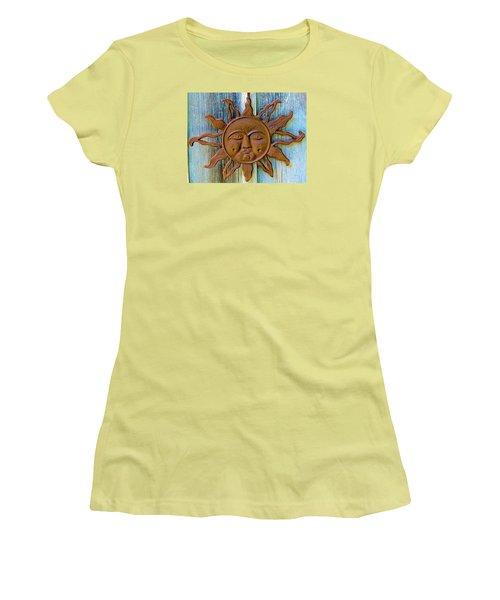 Rustic Sunface Women's T-Shirt (Athletic Fit)