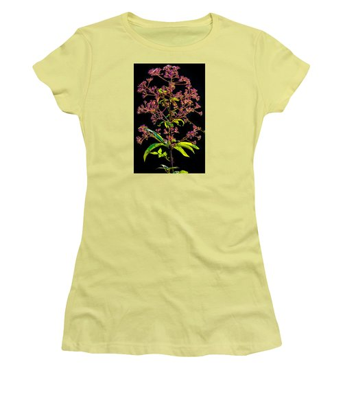 Women's T-Shirt (Junior Cut) featuring the photograph Rustic Weed by Brian Stevens