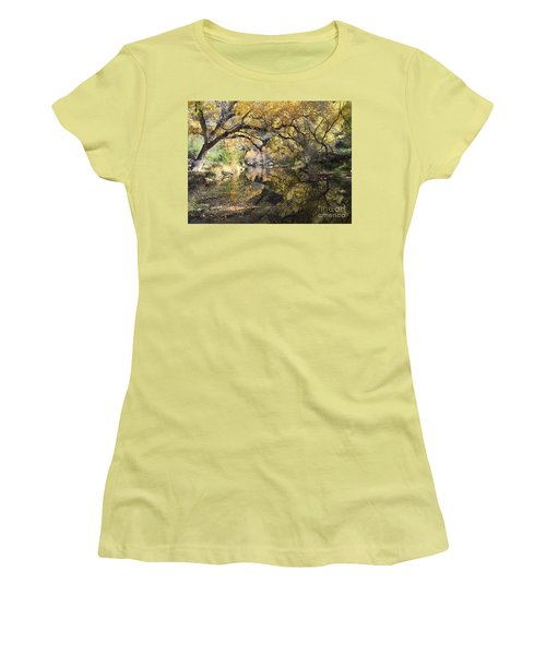 Sabino Canyon In Fall Women's T-Shirt (Athletic Fit)