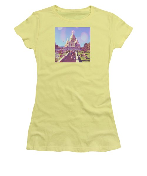 Sacre-coeur In Summer Women's T-Shirt (Athletic Fit)