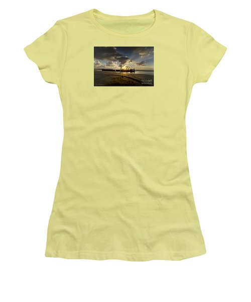 Safe Shore 04 Women's T-Shirt (Junior Cut) by Arik Baltinester