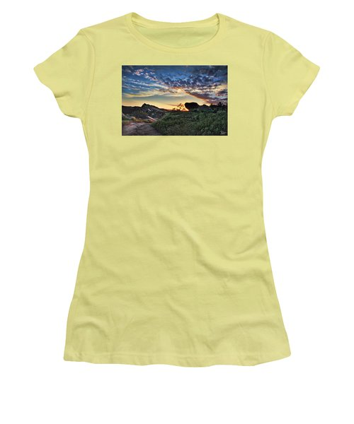 Sage Ranch Sunset Women's T-Shirt (Athletic Fit)
