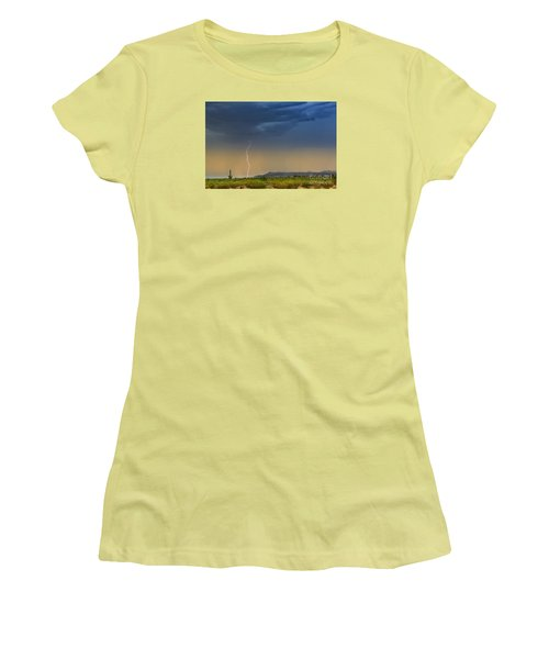 Saguaro With Lightning Women's T-Shirt (Athletic Fit)