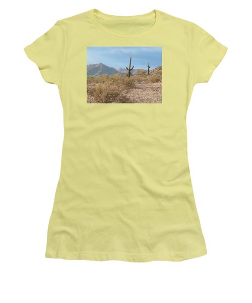 Saguaros On A Hillside Women's T-Shirt (Athletic Fit)