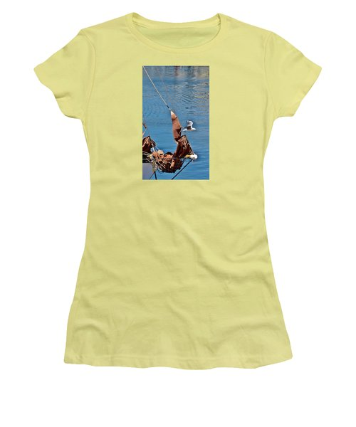 Women's T-Shirt (Junior Cut) featuring the photograph Sail Boat by Werner Lehmann