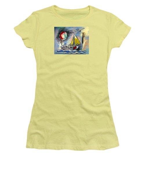 Sailboat 2 Women's T-Shirt (Athletic Fit)