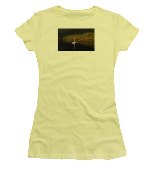 Sailboat In Sun Women's T-Shirt (Athletic Fit)