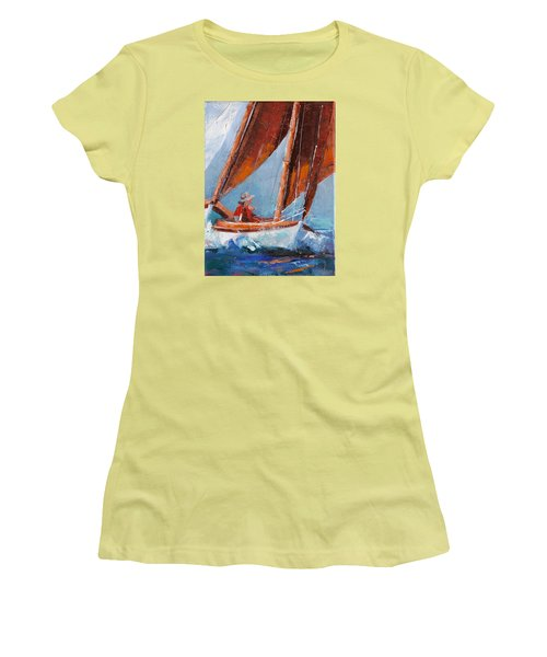 Sailboat Therapy Women's T-Shirt (Junior Cut) by Trina Teele