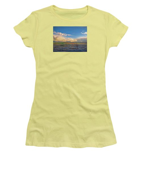 Sailing On Galilee Women's T-Shirt (Athletic Fit)