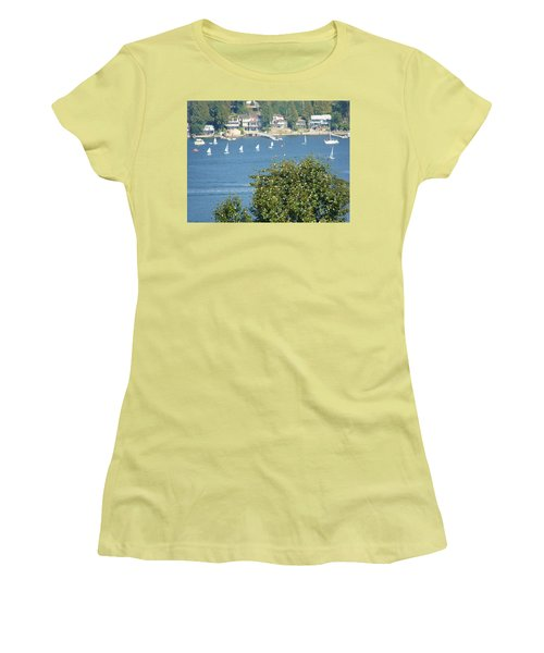 Sailing Women's T-Shirt (Junior Cut) by Rod Jellison