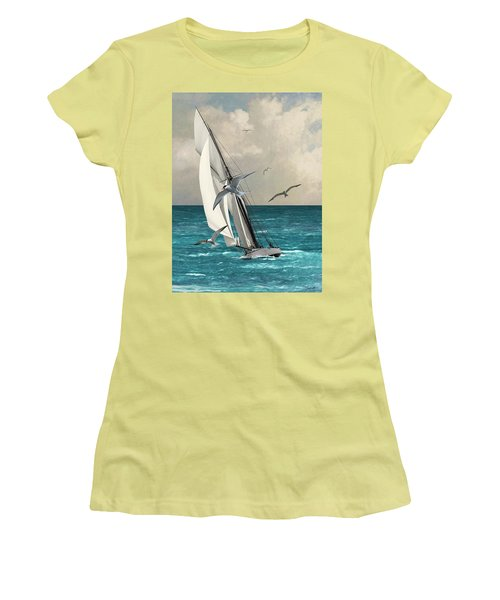 Sailing Southern Seas Women's T-Shirt (Athletic Fit)