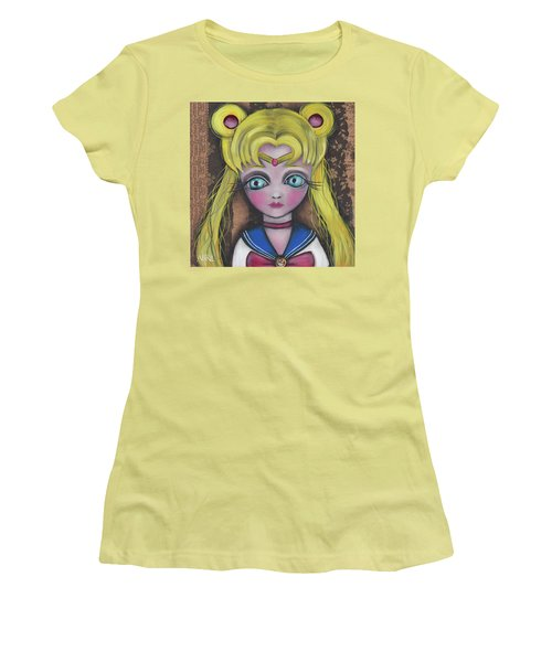 Sailor Moon Women's T-Shirt (Junior Cut) by Abril Andrade Griffith