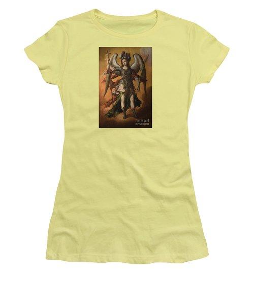 Saint Michael The Archangel Women's T-Shirt (Junior Cut) by Celestial Images