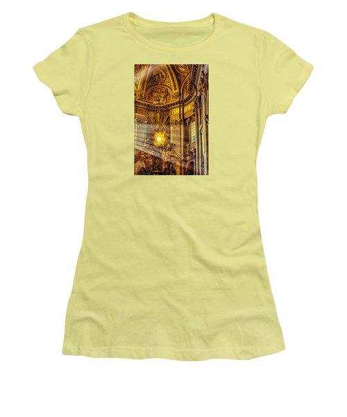 Women's T-Shirt (Junior Cut) featuring the photograph Saint Peter's Chair by Trey Foerster