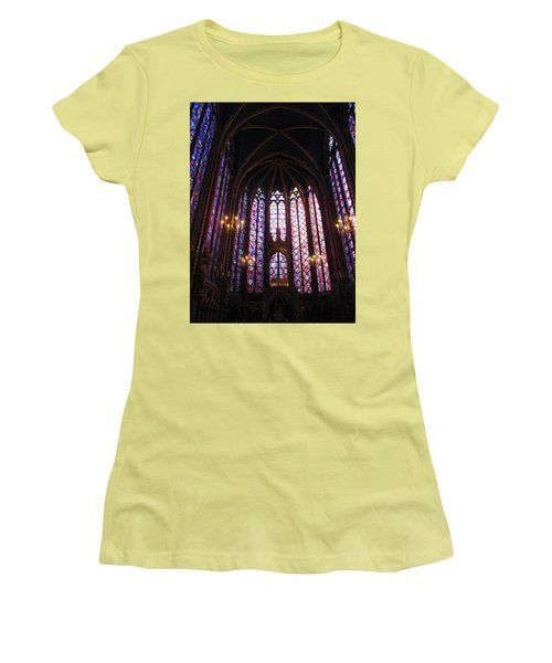 Women's T-Shirt (Junior Cut) featuring the photograph Sainte-chapelle by Christopher Kirby