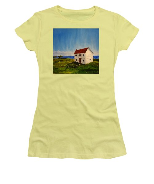 Saltbox House Women's T-Shirt (Athletic Fit)