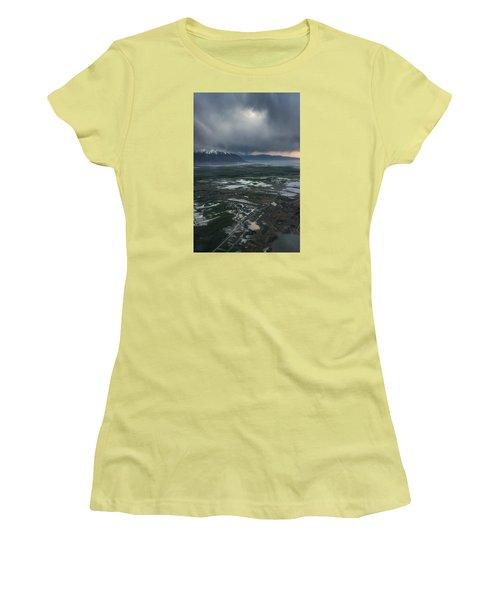 Women's T-Shirt (Junior Cut) featuring the photograph Salt Lake Drama by Ryan Manuel