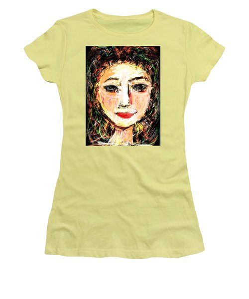 Women's T-Shirt (Junior Cut) featuring the digital art Samantha by Elaine Lanoue