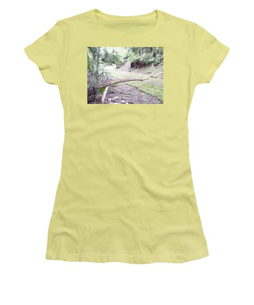 San Andres Echologycal Path At Guilarte's Forest Women's T-Shirt (Athletic Fit)