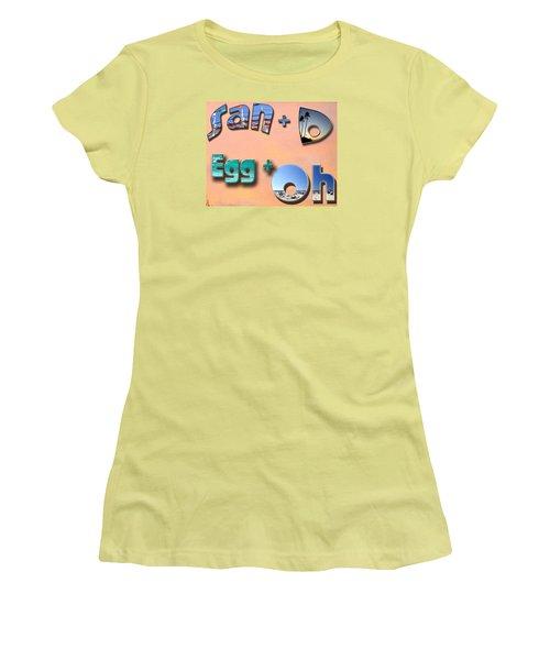 San D Egg Oh Women's T-Shirt (Junior Cut) by Christopher Woods