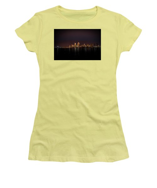 San Diego Harbor Women's T-Shirt (Junior Cut) by John Johnson