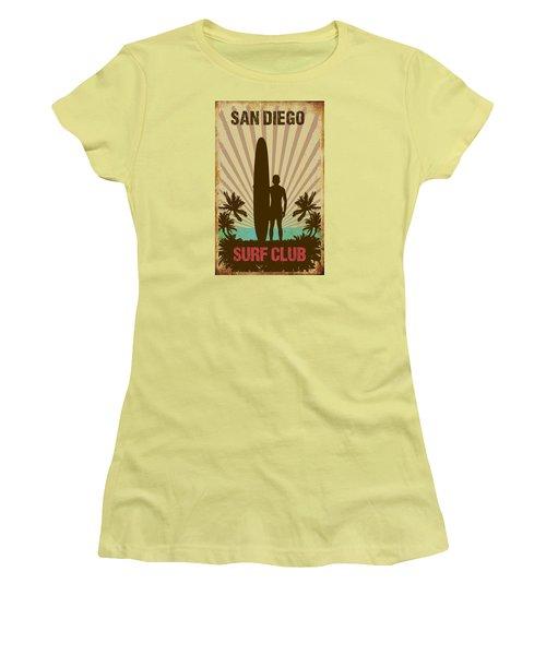 San Diego Surf Club Women's T-Shirt (Athletic Fit)