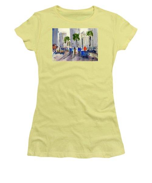 San Francisco Embarcadero Women's T-Shirt (Junior Cut) by Tom Simmons