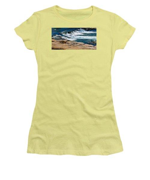 San Marcos River Waterfall  Women's T-Shirt (Junior Cut) by Ray Shrewsberry