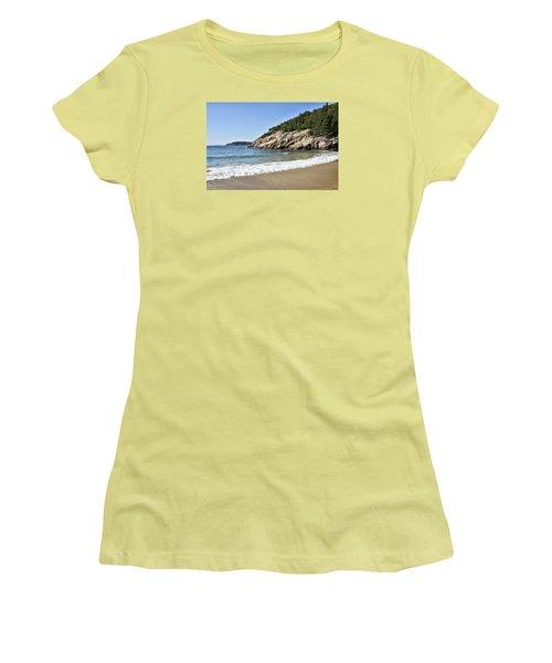 Sand Beach - Acadia National Park - Maine Women's T-Shirt (Junior Cut) by Brendan Reals