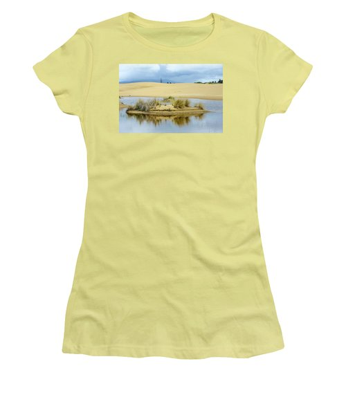 Sand Dunes And Water Women's T-Shirt (Junior Cut) by Jerry Cahill