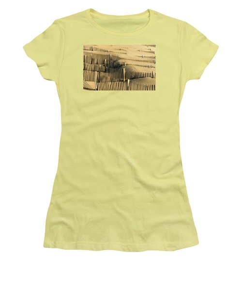 Sand Dunes Of The Outer Banks Women's T-Shirt (Athletic Fit)